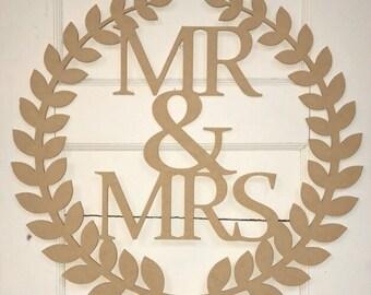 Mr /& Mrs Name Frame Sign Unfinished