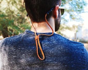 Long Slide Leather Sunglass Strap / Sunglass retainer / Strap for Sunglasses