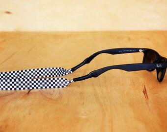 Checkerboard Sunglass Strap / Checker Print Sunglass Retainer