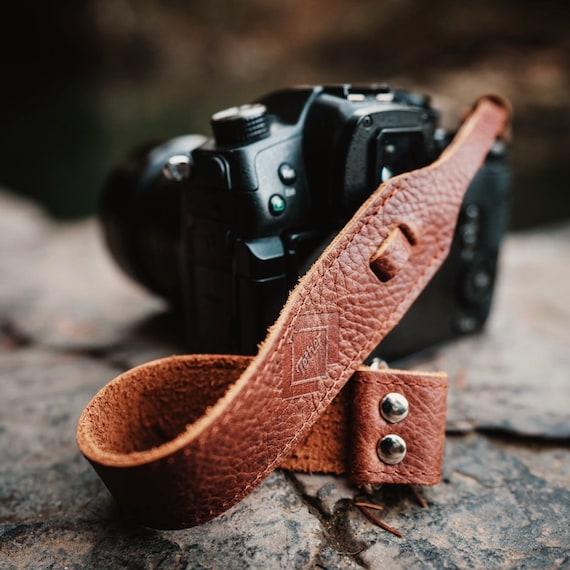 Leather Camera Strap Nikon camera strap. Camera accessories Grey for DSLR or SLR camera Canon camera strap DSLR Camera Strap