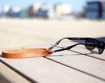 Tan Leather Sunglass Strap / Sunglass retainer / Strap for Sunglasses