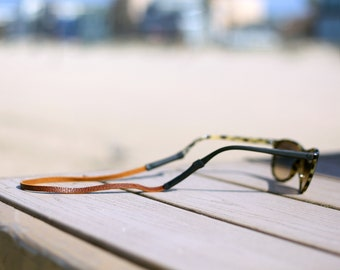 True Brown Slim Leather Sunglass Strap / Sunglass retainer / Strap for Sunglasses