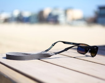 Grey Leather Sunglass Strap / Sunglass retainer / Strap for Sunglasses
