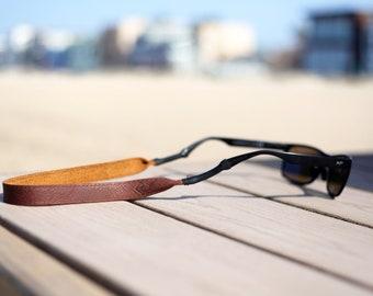 True Brown Leather Sunglass Strap / Sunglass retainer / Strap for Sunglasses