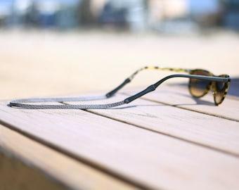 Grey Slim Leather Sunglass Strap / Sunglass retainer / Strap for Sunglasses