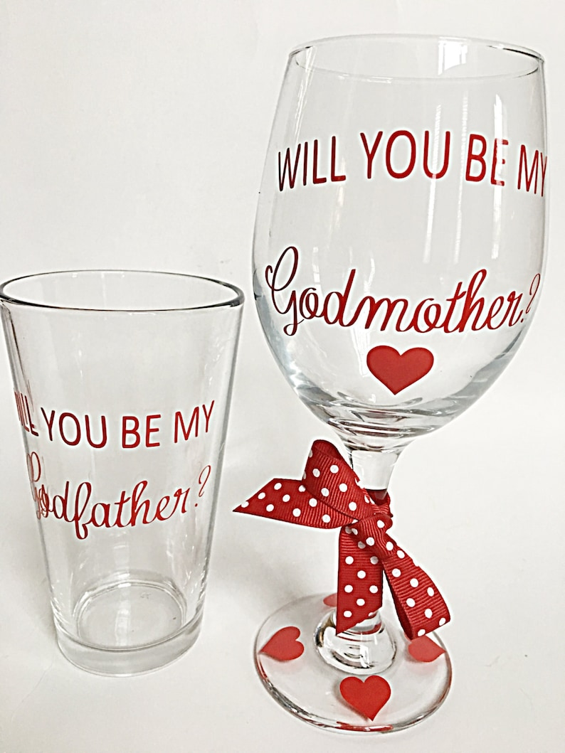 e65312192c0 Will you be my godmother/godfather gift set 2 Godparent | Etsy