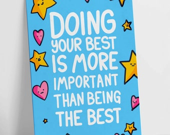 Doing Your Best Colour Motivational Postcard