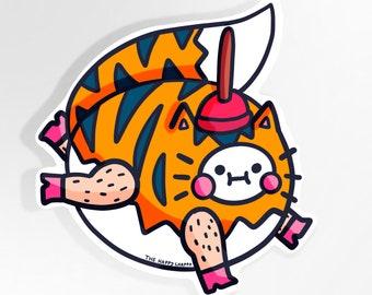 Fox Tiger Unicorn Large Vinyl Sticker