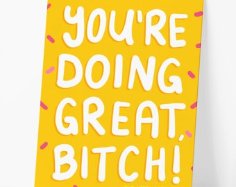 You're Doing Great Motivational Postcard
