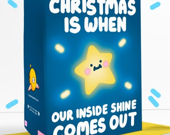 Christmas Is When Our Inside Shine Comes Out Christmas Greetings Card Festive Star Cute Family
