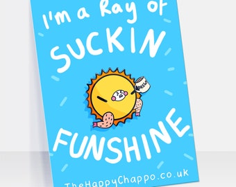 I'm A Ray Of Suckin Funshine Hard Enamel Pin