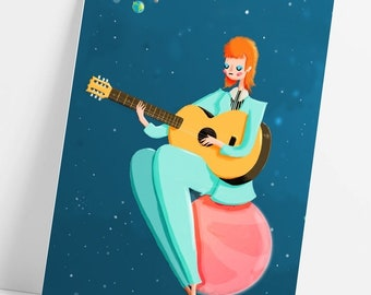 David Bowie Life On Mars Postcard