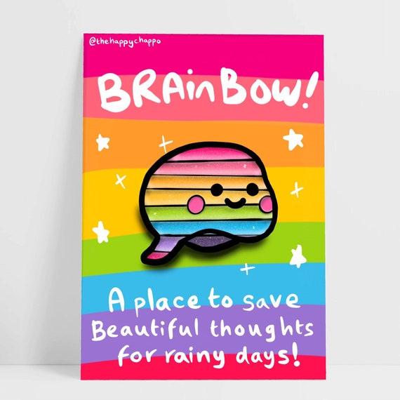 Brainbow Enamel Pin