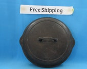 Vintage Antique Griswold No 8 Lid Skillet Lid, Self Basting Small Logo Cast Iron Cookware, Free Shipping