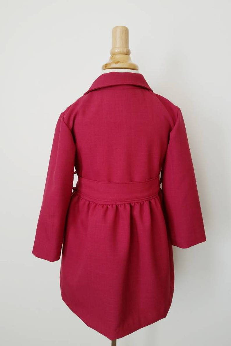 92fa57b1bf21 Girls trench coat girls formal coat pink coat girls dress