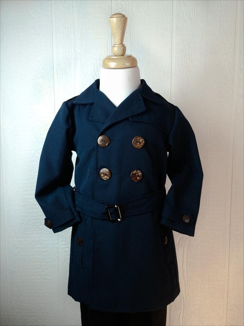 c38fc4be1aa7 Little boys trench coat boys formal coat kids dress coat