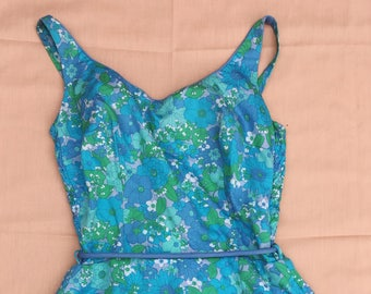 Vintage Floral Swimsuit with attached Bloomers!