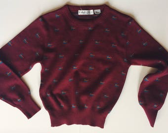 Vintage Huk-a-poo duck sweater