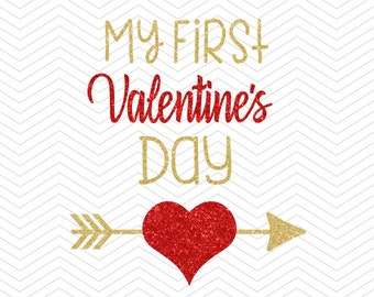 First Valentines Svg Etsy