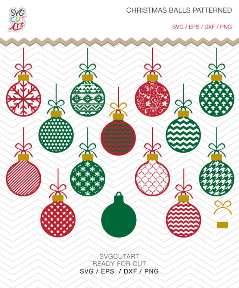 Christmas Balls Patterned Ornaments Frames Dxf Svg Png Eps Etsy