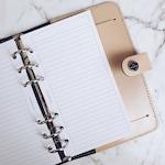 Printed Lined Paper | Planner Agenda Insert
