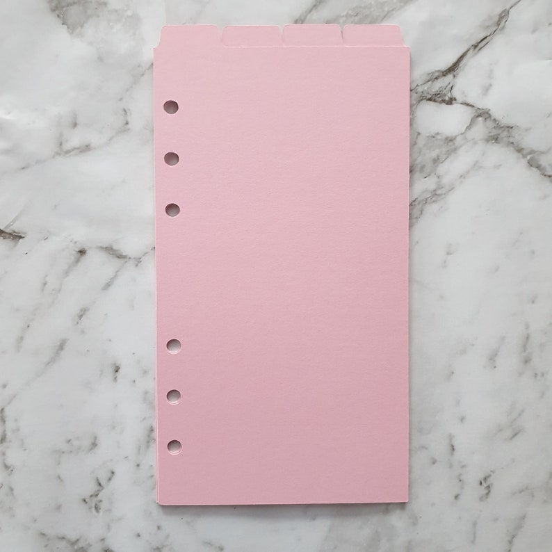 Top Tab Agenda Planner Dividers Cardstock Candy Pink