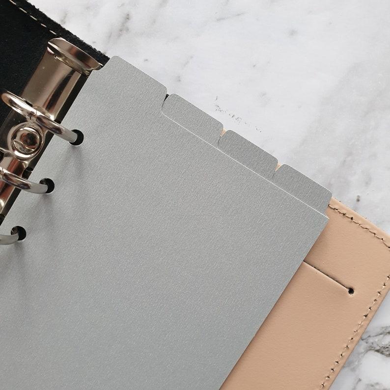 Top Tab Agenda Planner Dividers Cardstock Light Grey