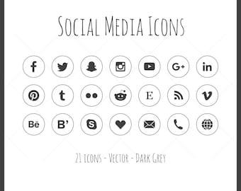 social media icons eps