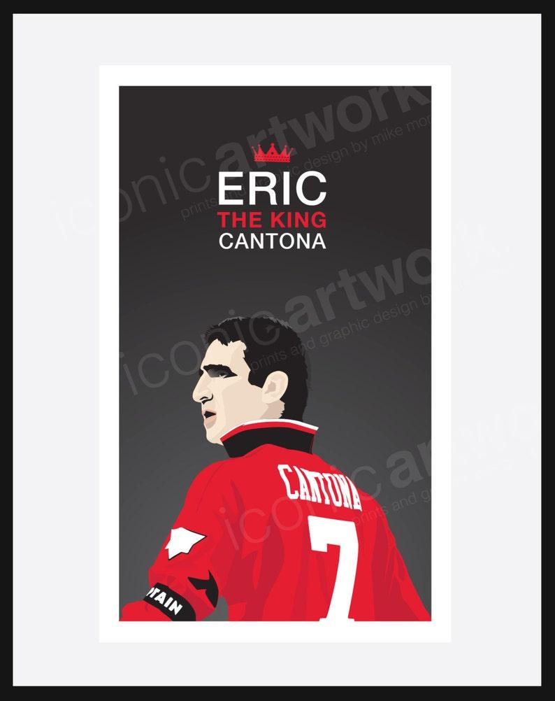 Eric Cantona Légende de Manchester United. Affiche A4A3 et | Etsy
