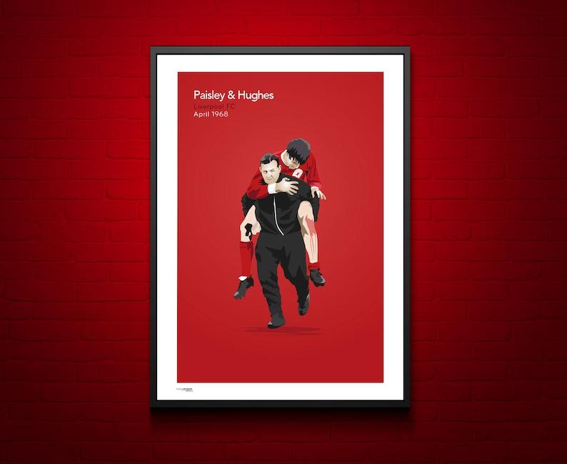 07a6c5a6c37a0 Football Icons Bob Paisley and Emlyn Hughes Liverpool FC .