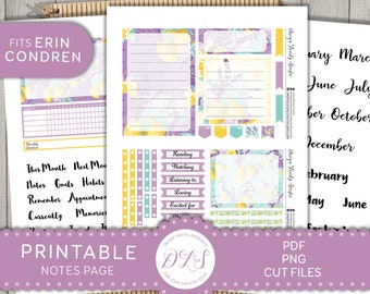 October 2020 EC Notes Page Stickers