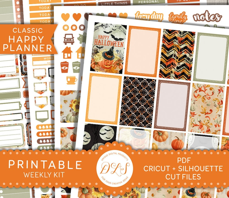 picture regarding Happy Planner Stickers Printable named Content Planner Halloween Stickers, Printable Halloween Planner Stickers, Halloween Weekly Package, Oct Planner Stickers, Slash Data files, HP104
