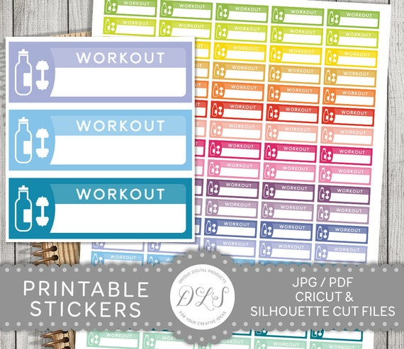 photograph about Printable Workout Planner identified as Exercise Stickers, Exercise session Planner Stickers, Printable Exercise routine Planner Stickers, Physical fitness Planner Stickers, Gymnasium Planner Stickers, FS116