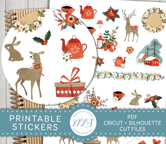 picture about Printable Christmas Stickers known as Printable Xmas Planner Stickers, Xmas Sbook Stickers, Winter season Planner Stickers, Ornamental Xmas Stickers, Lower Information, DS134