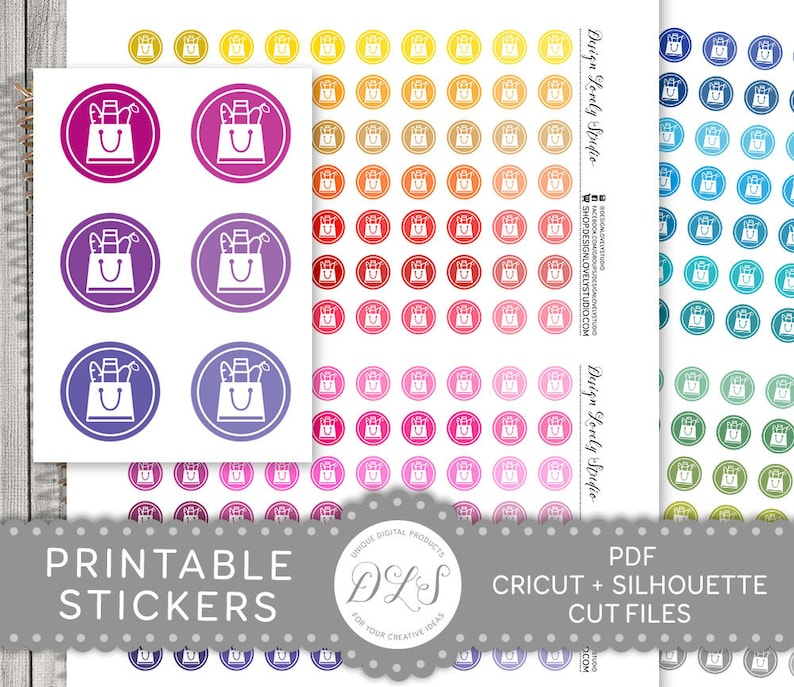 photograph about Printable Stickers Round referred to as Procuring Icon Planner Stickers, Printable Buying Stickers, Printable Planner Icons, Shoping Icons, Toward Order Stickers, Spherical Icons, FS156
