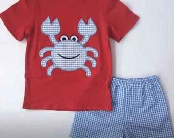 7f9130d27198b Toddler crab shirt   Etsy