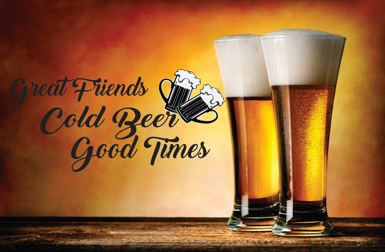 Great Friends Cold Beer Good Times beer mugs drinking   Etsy