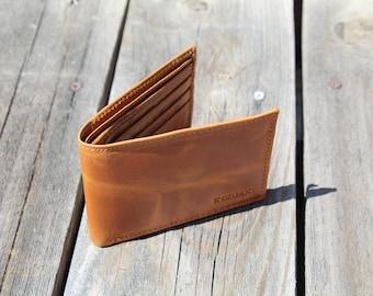Buffalo Leather Wallet - Light Brown