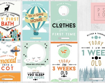 dadadc1c1 Baby Boy | Special NICU Milestone Cards | Preemie Milestone Cards | Preemie  Gift | Preemie Present | Premature Baby Gift | Miracle Baby
