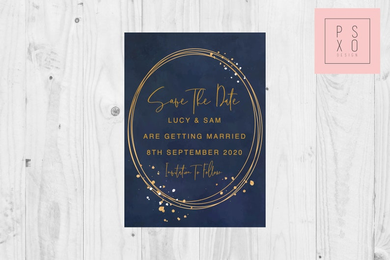 Save The Date Magnets  Save The Date Magnet   Navy /& Gold  Navy Gold Wedding  Winter Wedding  Autumn Wedding  Navy And Gold