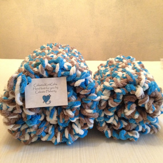 4cd71c1c6d Baby Boy Gift Set Hand Knit Crib Afghan with Matching Car Seat