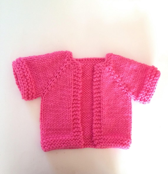 11d4730d6 Baby Girl Sweater Pink Size 6 12 Months Handknit Baby Sweater