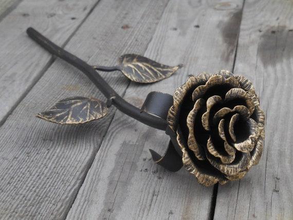 rose en m u00e9tal forg u00e9 rose en acier fleur de fer sculpture