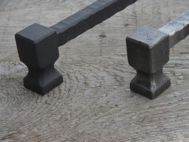 wrought iron 12.6 in 320 mm hand forged drawer pull #4 cabinet cupboard wardrobe kitchen dresser door hardware. 12 58/'/' pull handle