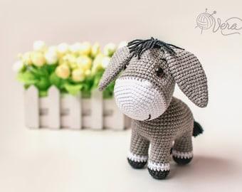 Pedro the amigurumi Donkey Crochet PDF pattern gray donkey | Etsy | 270x340