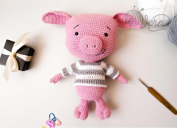 Häkeln Sie Schwein Lustigen Lächelnde Häkeln Schwein Etsy