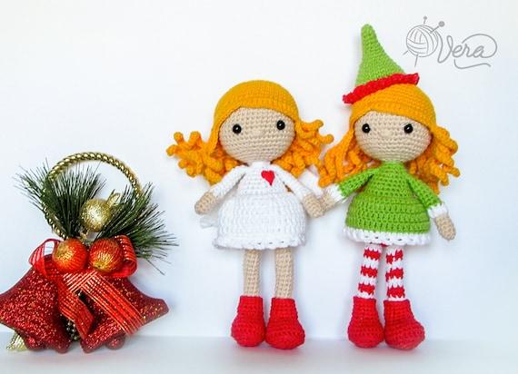 Häkeln Weihnachtsengel Und Elf Amigurumi Engel Amigurumi Etsy