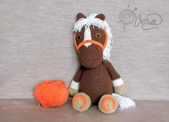 Häkeln Sie Pferd Amigurumi Puppe Pferd Häkeln Handarbeit Etsy