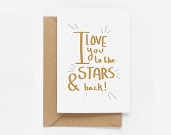 I Love You To The Stars And Back - Eddie and The Giant Peach - Anniversary Card
