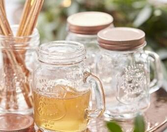 Set of 4 Mini mason jar